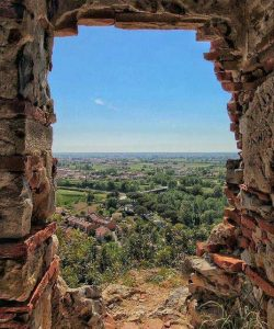 La vista dalla Torre di Caprona
