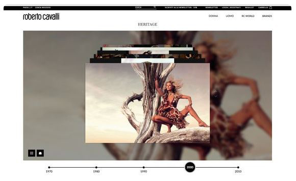 Il Primo Web Store Di Roberto Cavalli
