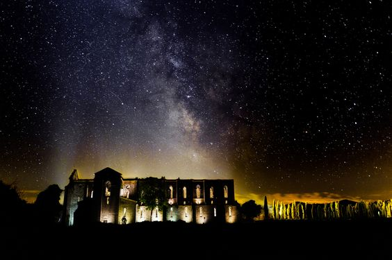 Abbazia Di San Galgano By Night