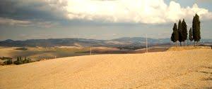 Crete Senesi. Foto Di Una Toscana Lunare. Le Crete Di Siena.