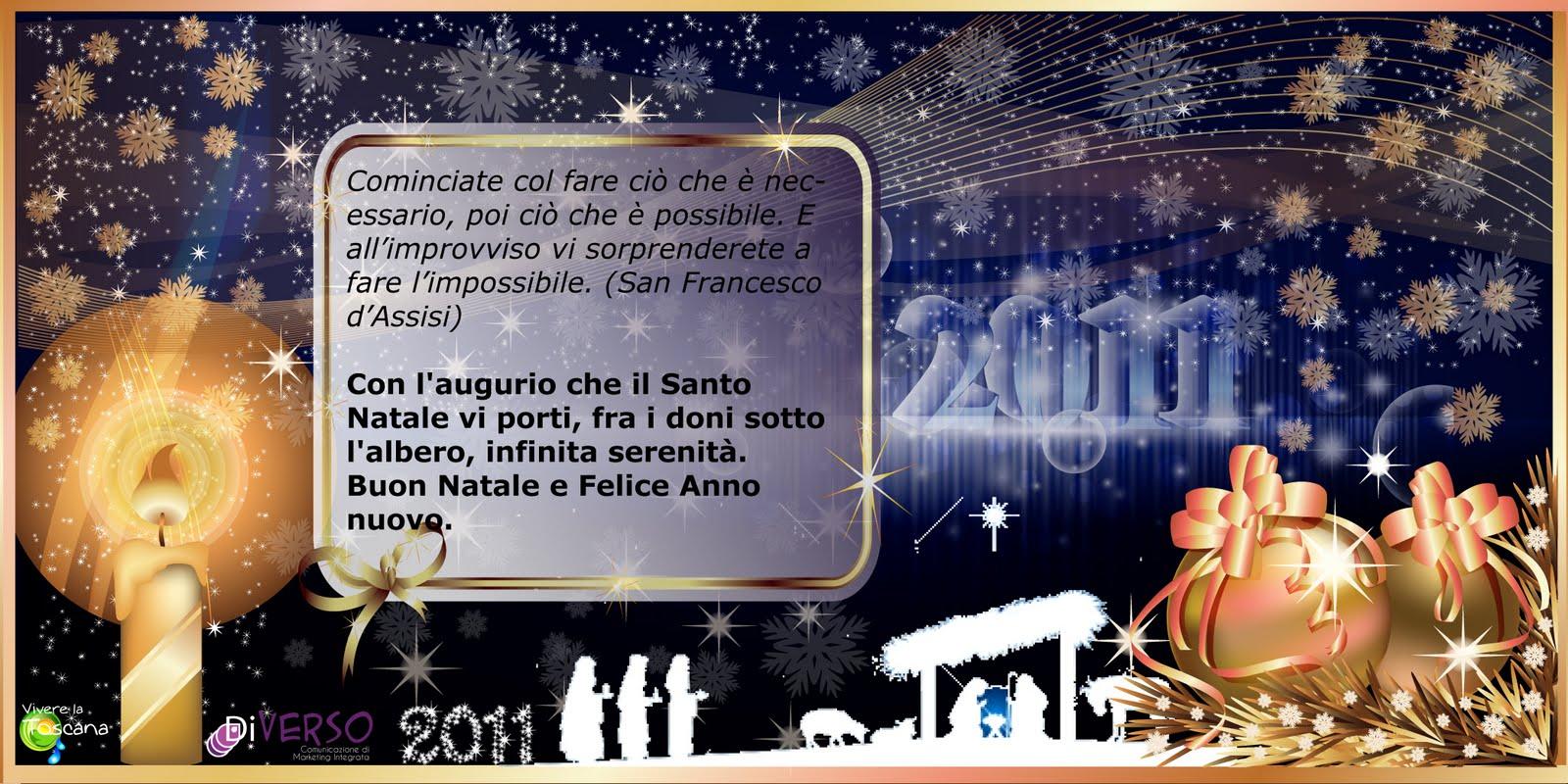 Auguri Natale 2011 Vivere La Toscana