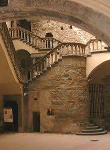 scala del castello di poppi