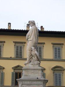 retro statua dante alighieri