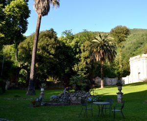 giardino della villa corliano