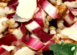 insalata di farro radicchio e noci