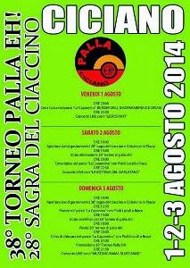 Sagra Del Ciaccino E Torneo Della Palla Eh A Ciciano, Chiusdino. 1, 2, 3 Agosto 2014