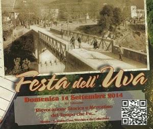A Subbiano Festa Dell'Uva E Mercatino Del Tempo Che Fu. 14 Settembre 2014
