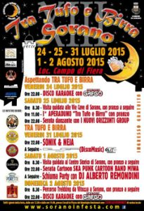 Tra Tufo E Birra 2015. A Sorano 24, 25, 31 Luglio, 1, 2 Agosto