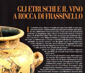 Gli Etruschi E Il Vino A Rocca Di Frassinello. Fino Al 31 Dicembre 2015