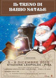 Il Treno Di Babbo Natale Ferma Alla Stazione Leopolda Di Pisa