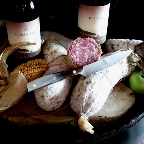 Salame Al Finocchio E Vino Rosso