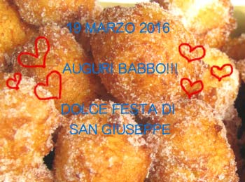 La Festa Del Papà O Meglio Del Babbo In Toscana. Frittelle E Feste Tradizionali