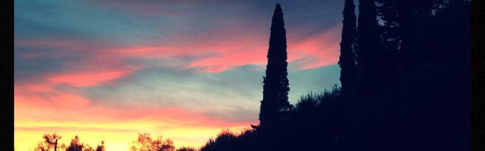 Tramonto Da Monteriggioni. Foto Di Nicola Micheli