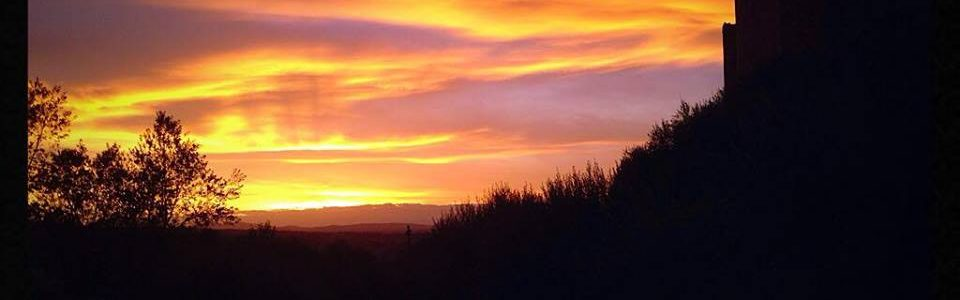 Monteriggioni Al Tramonto. Foto Di Nicola Micheli