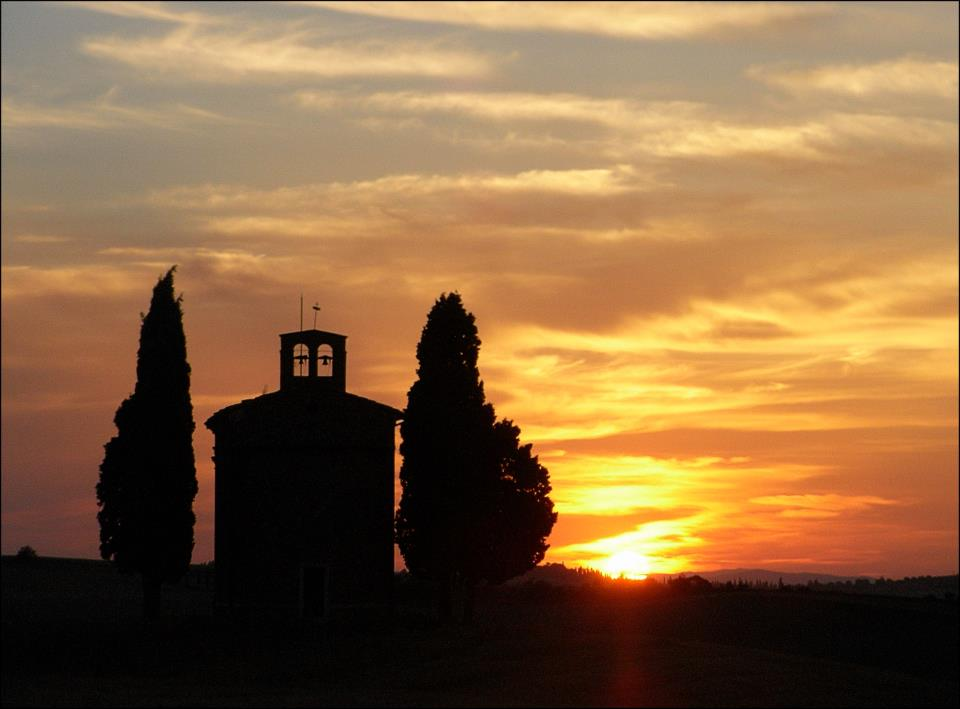 Tramonto toscano val d'orcia