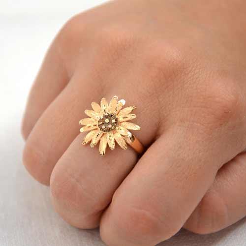 gioielli oro 18 kt margherita anello