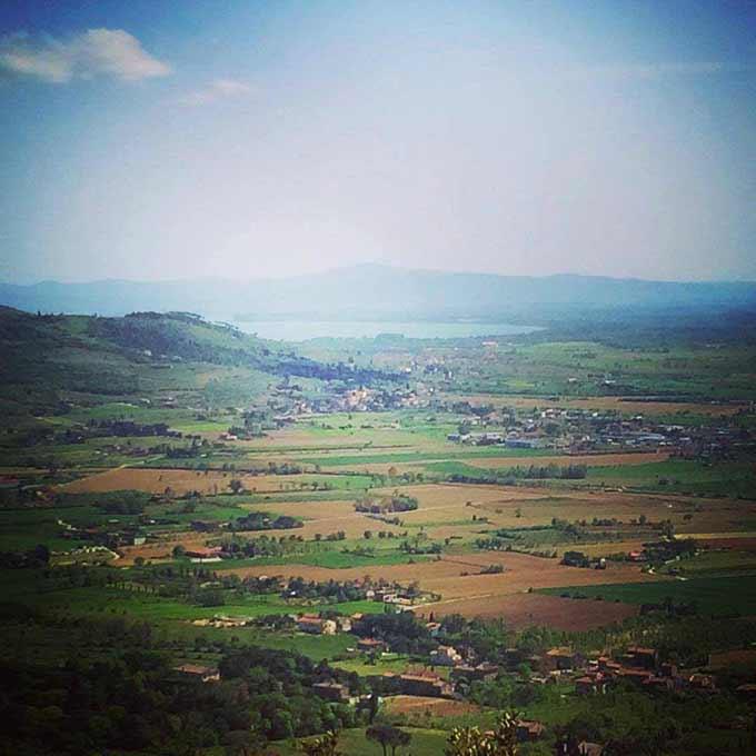 Panorama Dalle Mura Di Cortona Di Alessia Vespa