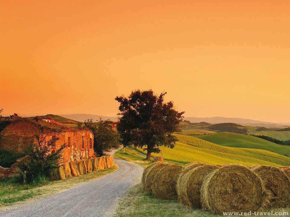 Tramonto Sulle Colline Toscane