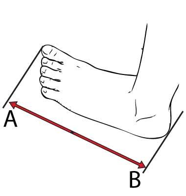 misura lunghezza-piede