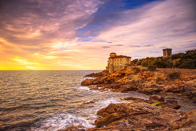 Castello Del Boccale, Sunset Over The Sea