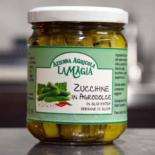 Zucchine In Agrodolce In Olio Extra Vergine Di Oliva