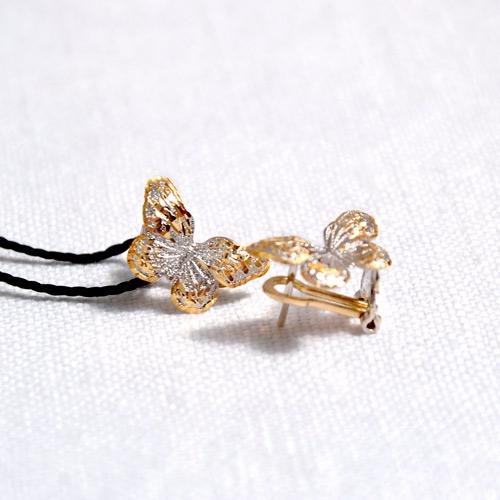 Orecchini in oro a forma di farfalla (2)