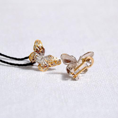 Orecchini In Oro A Forma Di Farfalla (3)