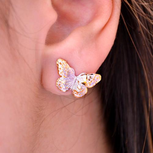 Orecchini In Oro A Forma Di Farfalla (5)