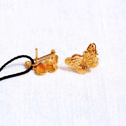 Orecchini In Oro A Forma Di Farfalla (7)