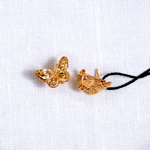 Orecchini In Oro A Forma Di Farfalla (8)