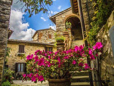 Montefioralle, Borgo Medievale Vicino A Greve In Chianti
