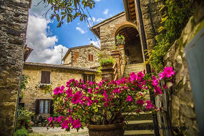 Montefioralle, Medieval Town In Greve In Chianti