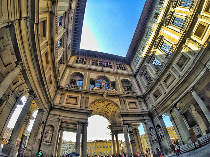 Uffizi Gallery And Vasari Corridor In Florence, Pic By Kaline Marco