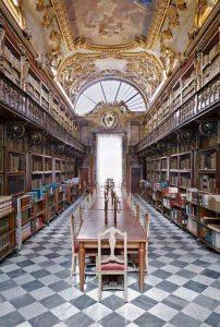Una delle sale di consultazione della Biblioteca Riccardiana